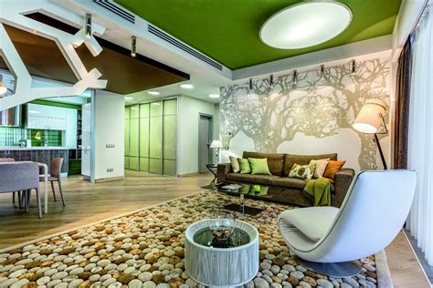 contemporary interior design inspired by summer garden