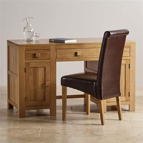 oak furniture land computer desk oakdale computer desk in natural solid oak oak furniture