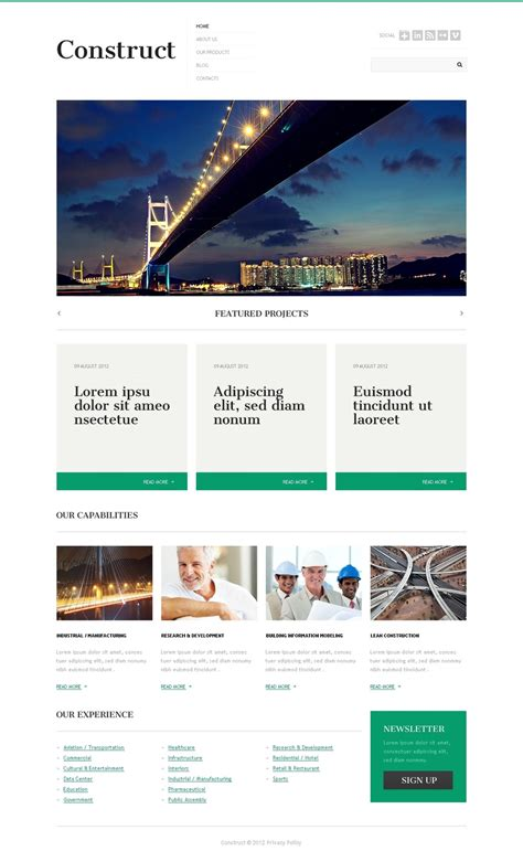 construction company wordpress theme 40743