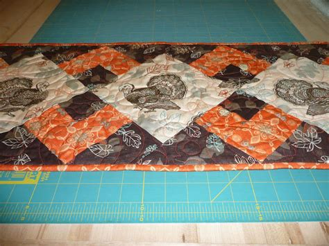 Quilted Acorn by Acorn Ridge Quilting Turkey Table Runner