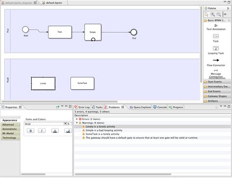 create bpmn diagram in eclipse viatra query userdocumentation exles bpmn eclipsepedia