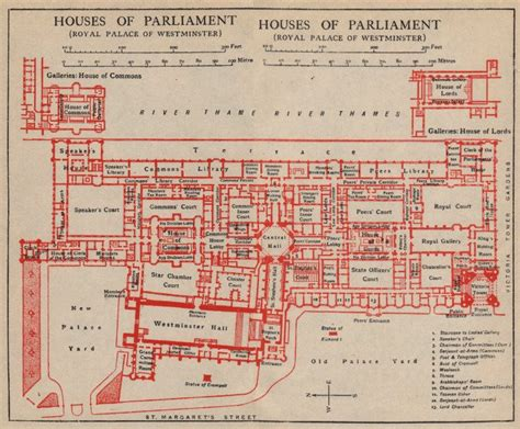 Palace Of Westminster Floor Plan by Houses Of Parliament Palace Of Westminster Vintage Floor