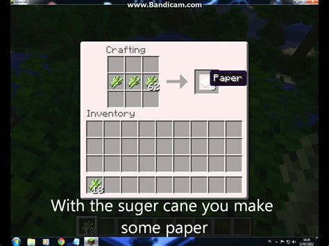 Minecraft Make Paper - minecraft how to craft paper books and bookshelves