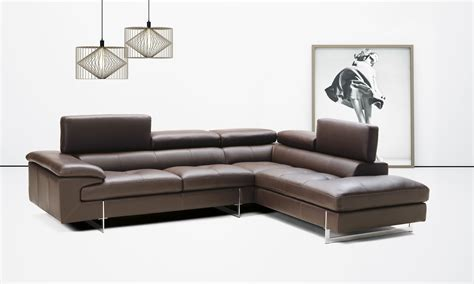 italian leather sectionals contemporary contemporary italian leather sectional with optional