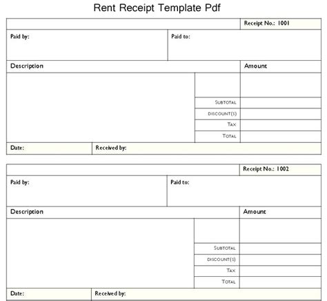 adobe receipt template rent receipt format in pdf monthly rent receipt receipt