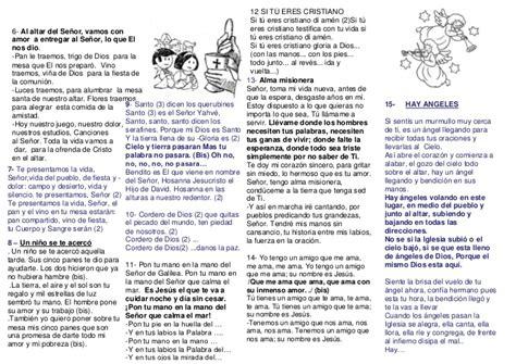 canciones para misa cancionero misa ni 241 os