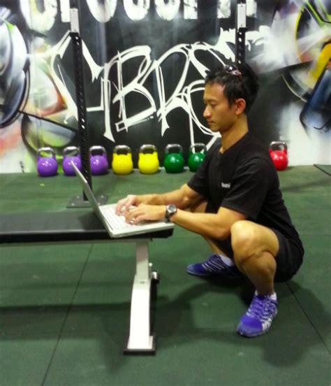 Squatting Desk by Bike Desks Smart Desks More 5 Strange And Innovative