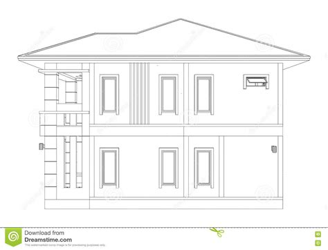 building house with side views building house with side views drawing of 3d home building side view stock