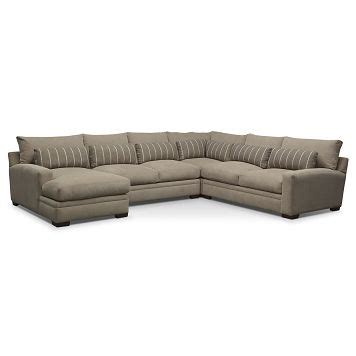 American Signature Furniture   Ventura Upholstery 4 Pc. Sectional (Reverse) $2,799.96   home