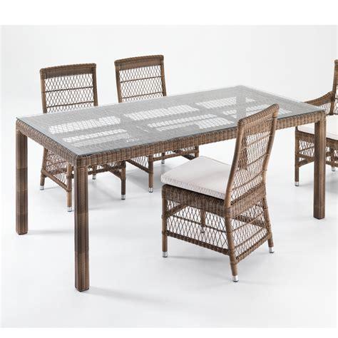 tavolo in rattan sintetico tavolo rettangolare rattan sintetico etnico outlet mobili