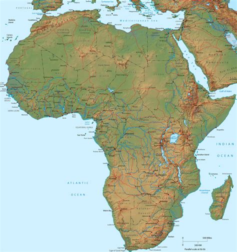 large map large detailed physical map of africa africa large