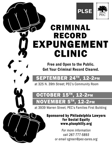 Criminal Record Expungement Pa Criminal Record Expungement Eligibility Intake Clinic Philadelphia Lawyers For