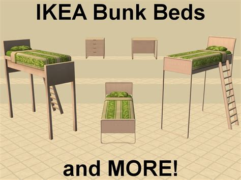 sims 2 bunk beds mod the sims ikea bunk beds and more