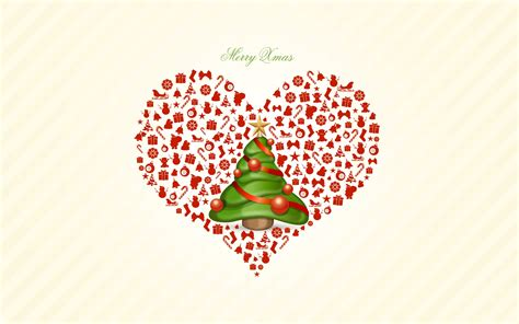 merry christmas heart love wallpaper