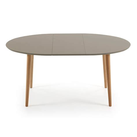 Extendable Oval Dining Table Extendable Wooden Table Oval Shape Ian