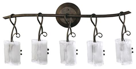 Wrought Iron Vanity Lights Somerset Wrought Iron Organic Sculpted 5 Light Vanity Transitional Bathroom Vanity Lighting