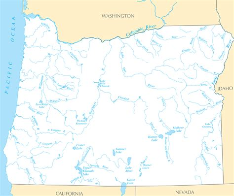 map of oregon rivers oregon rivers and lakes mapsof net