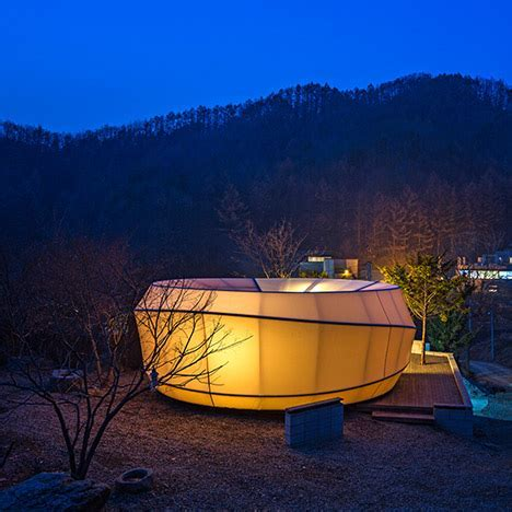 Glamping warm shaped tents, South Korea