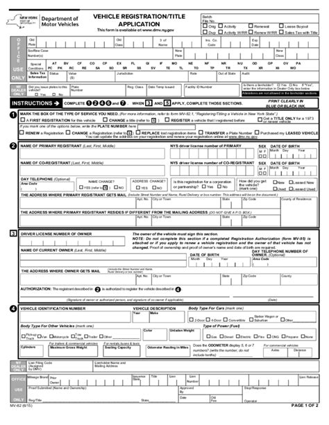 car application vehicle registration title application new york free