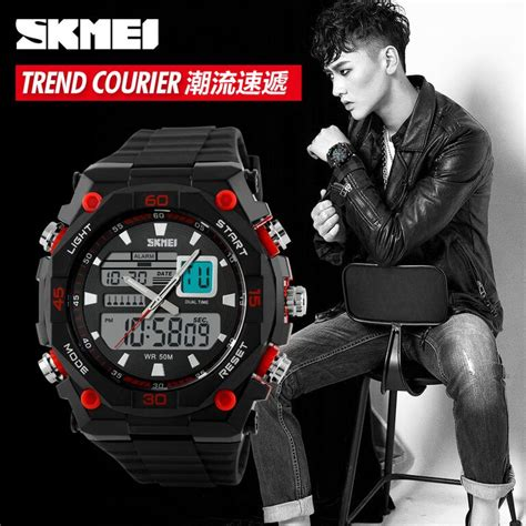 skmei jam tangan sporty digital analog pria ad1092