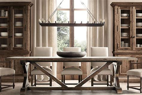 restoration hardware dining table favorite farmhouse trestle tables progress on our