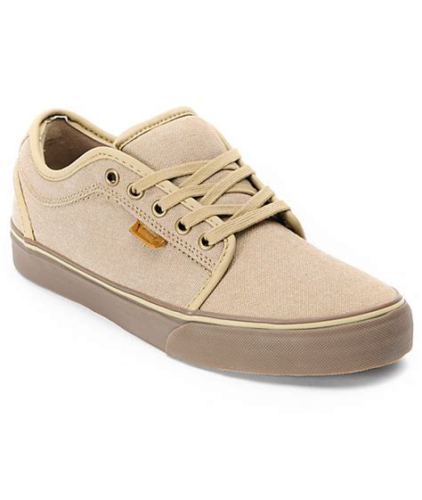 vans chukka low canvas gum skate shoes mens at