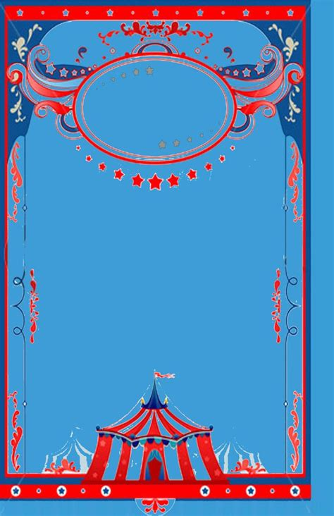 circus theme background template baby shower pinterest