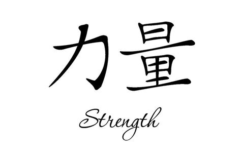 Chinese Symbol For Inner Strength Tattoo