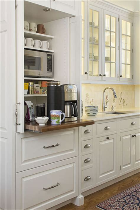kitchen coffee station cabinet coffee station except it appears the coffee maker is too