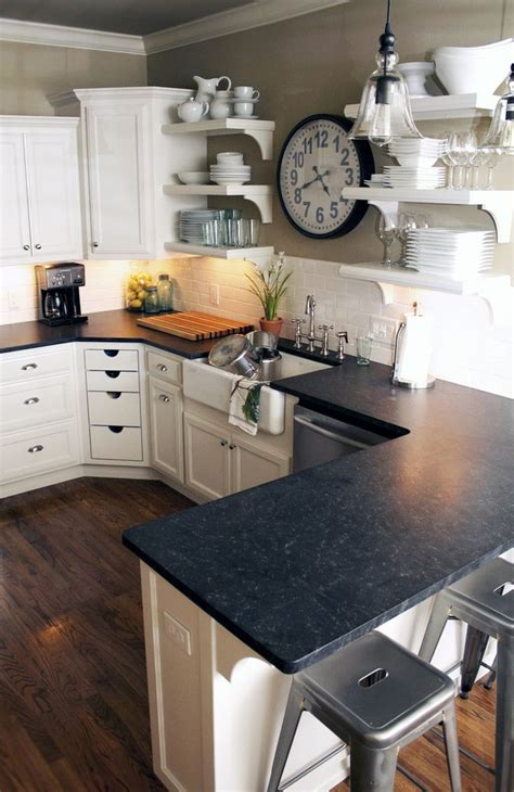 White Kitchen Cabinets Black Granite Countertops Kitchen Kitchen Backsplash Ideas Black Granite Countertops White Cabinets Popular In Spaces
