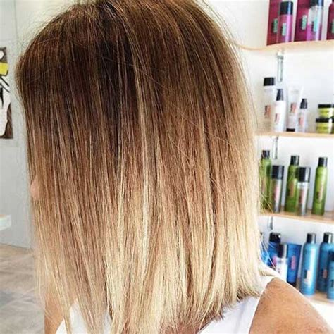 brown and blonde ombre with a line hair cut 25 brown and blonde hair ideas hairstyles haircuts