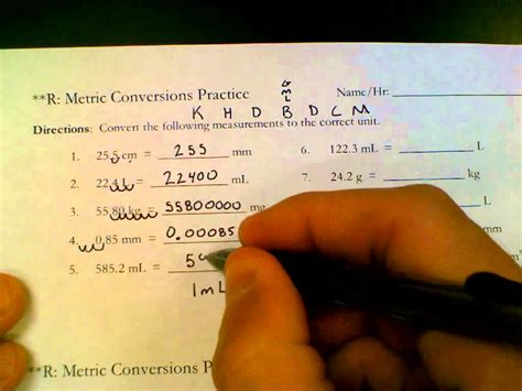 conversion challenge metric conversions practice answer key