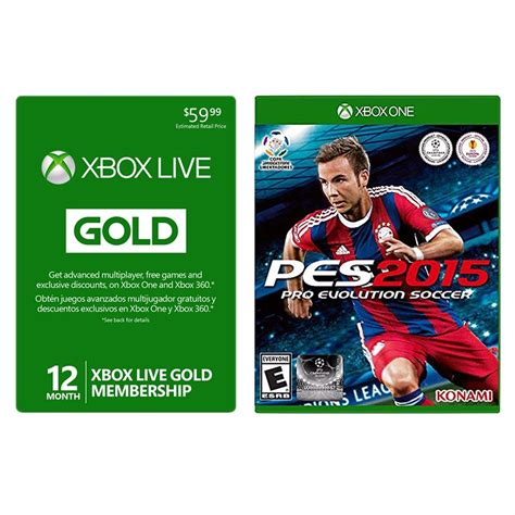 best price xbox live pro evolution soccer 2015 with 12 month xbox gold best price