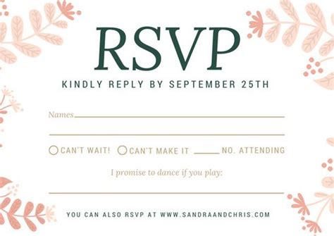 Canva Response Card Template diy wedding rsvp postcard word template vintage