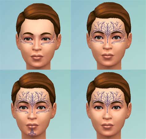 dalish tattoos my sims 4 dalish tattoos by mademoisellemaple