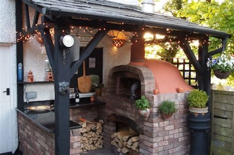 build a pizza oven in the garden outdoor furniture