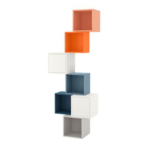 Ideas For Kitchen Shelves eket wall mounted cabinet combination multicolour