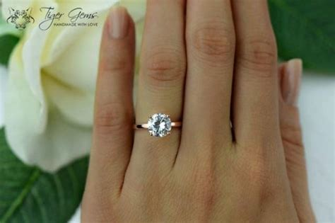 Verlobungsring Frau by 2 Ct Engagement Ring 4 Prong Classic Solitaire Ring