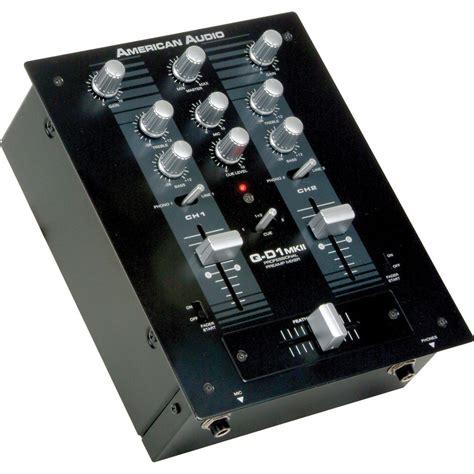 Audio Mixer American Standard american audio q d1 mkii professional 2 channel dj q d1