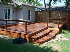 Backyard residential ipe deck by art deck o edeck com
