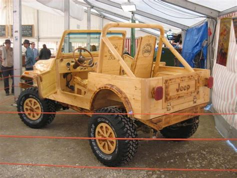 Wooden Jeep Backside Of The Wooden Jeep Cj7 Build Out Of Wood By