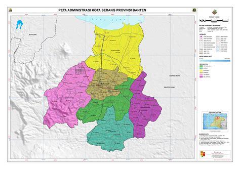 Peta Kota Serang Lipat administrasi kota serang peta tematik indonesia