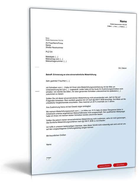 Musterbrief Kündigung Arbeitsvertrag Kostenlos Erinnerung Mieterh 246 Hung Einvernehmlich Muster Zum