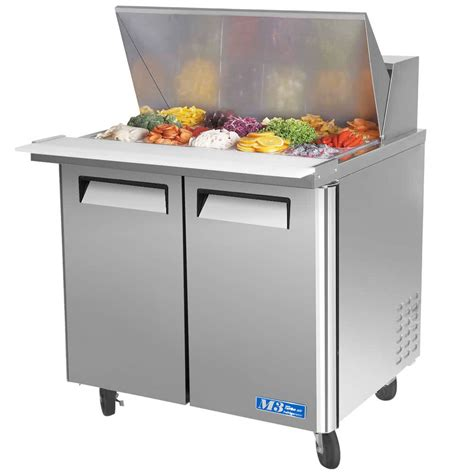 sandwich prep table turbo air mst 36 15 36 quot m3 series mega top refrigerated