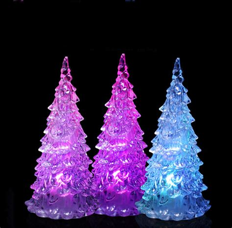 led crystal multi color changing l bulb christmas tree