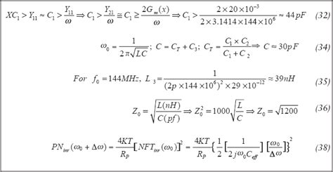 inductor and capacitor equations large signal approach yields low noise vhf uhf oscillators