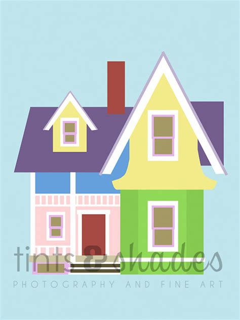 up house disney up house 8x10 minimalist poster by tintsshadesfineart on etsy 9 50 holiday