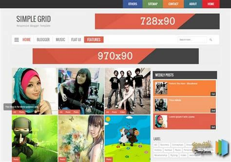 grid layout navbar simple grid v2 responsive blogger template 2014 free