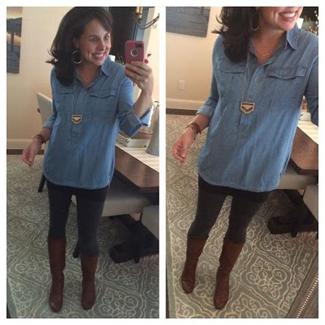Tunic Shirtdress Or Supposed Wear Some With That by Some Tunic Options This Chambray Just A
