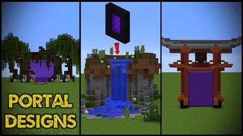 ideas portal 11 minecraft nether portal designs youtube